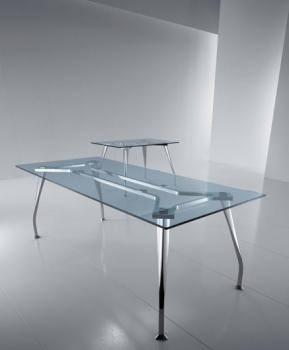 Bureau Direction Rectangle Verre Transparent