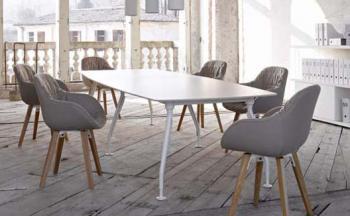 Table de Réunion Courbe Glamour 240