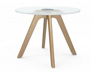 Table Basse Verre Bud Pieds Bois