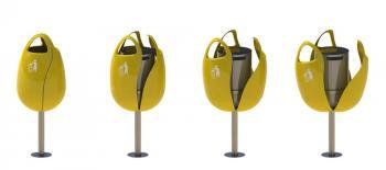 Poubelle pour Espace Public Design TULPI