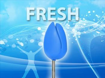 Siège TULPI design Bleu Fresh