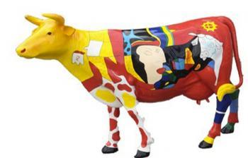 Vache Grandeur Nature Esprit Picasso