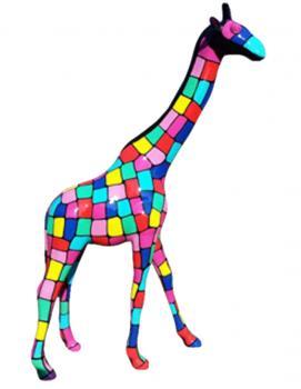 Girafe Géante 3m20 en Fibre de Verre