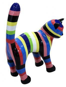 Chat Multicolore 45 cm