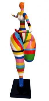 Danseuse 130 cm Résine Multicolores