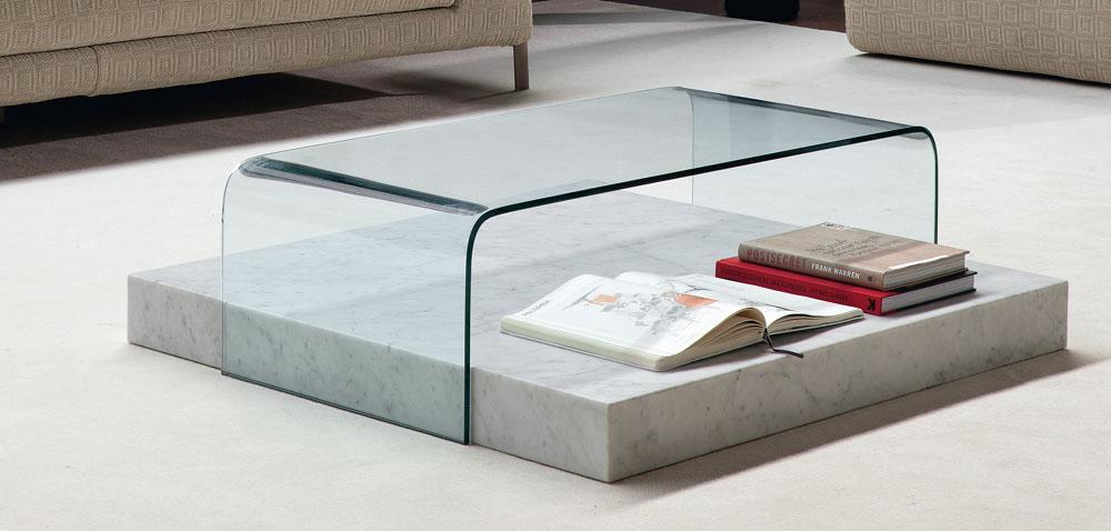 Tables Basses   Table Basse Verre sur Socle Marbre Ribbon   Mobilier ... e10af1c0534b