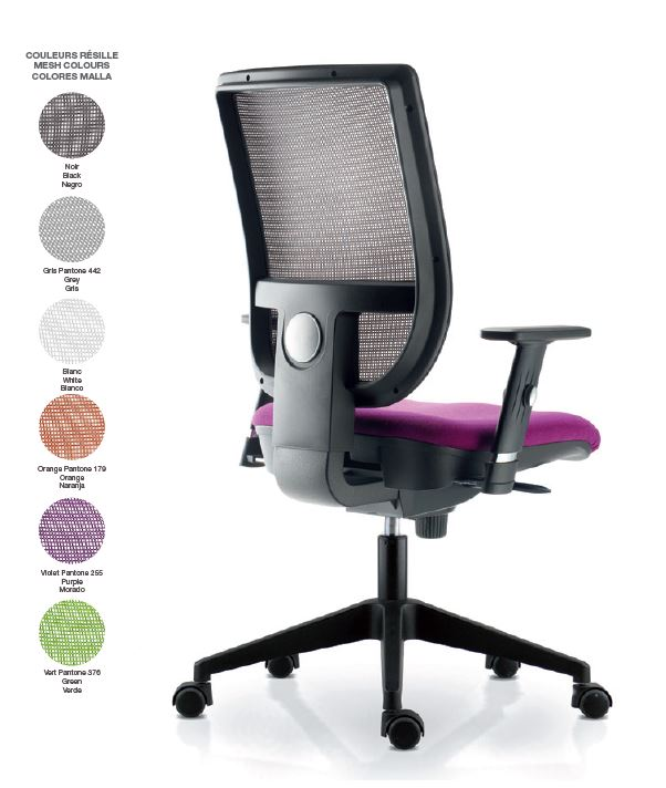 Fauteuil Tertio dossier resille