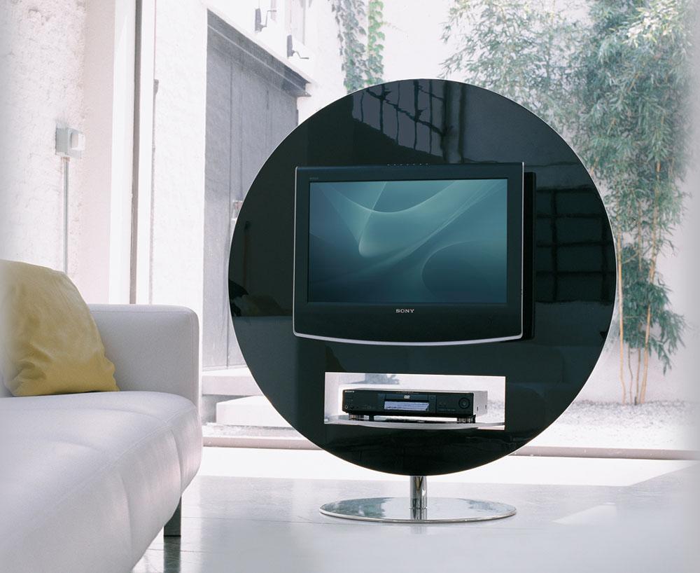 Mobilier Design Meuble Tv Vision Pivotant 360 Mobilier De  # Meuble Tv Blanc Pivotant