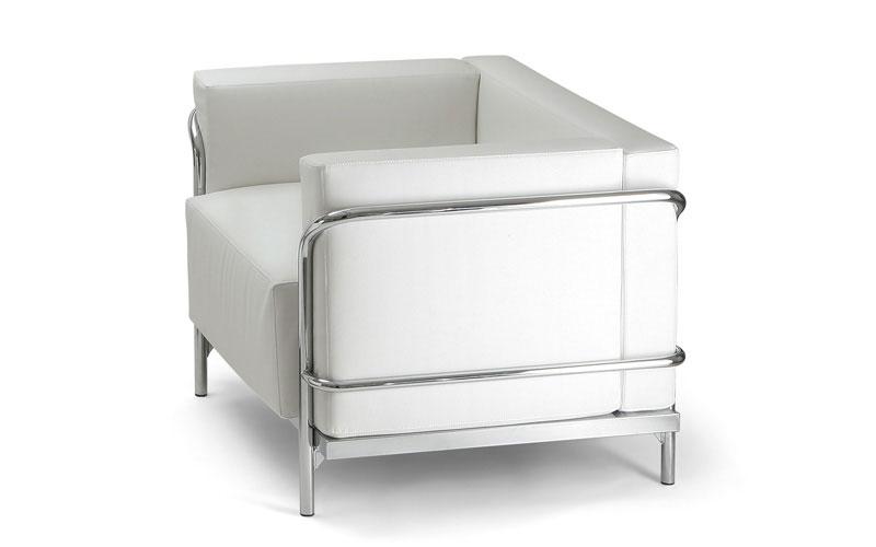Bureau Noir Ou Blanc : Canapés design fauteuil soft cuir blanc ou noir mobilier de