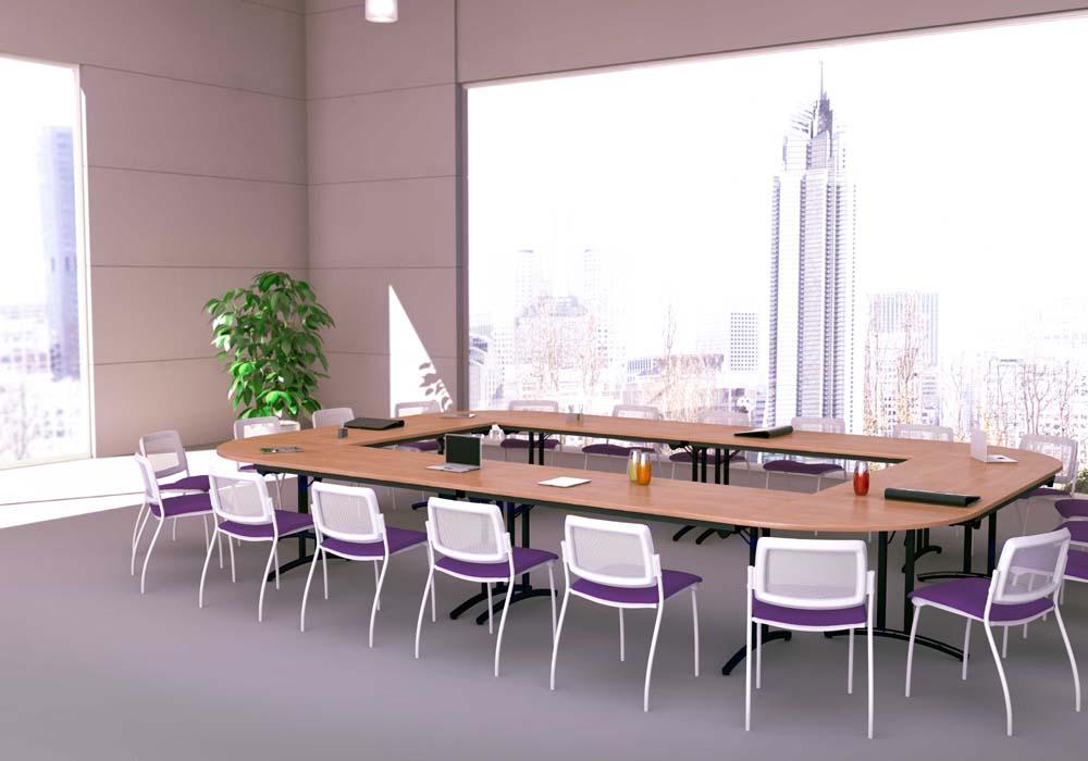 tables modulables tables pliantes confort 18 personnes mobilier de bureau entr e principale. Black Bedroom Furniture Sets. Home Design Ideas