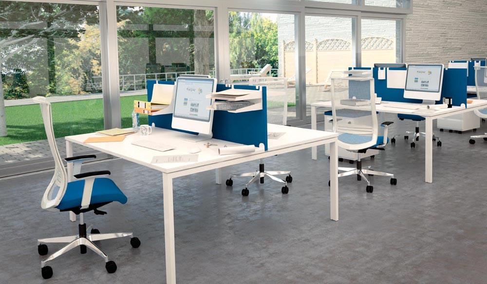 Call centers et open space mobilier de bureau type bench dynamic