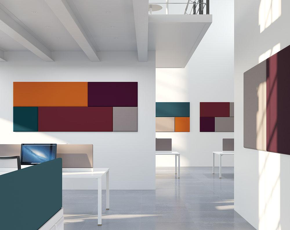 cloisons acoustiques panneaux muraux acoustiques addenda mobilier de bureau entr e principale. Black Bedroom Furniture Sets. Home Design Ideas