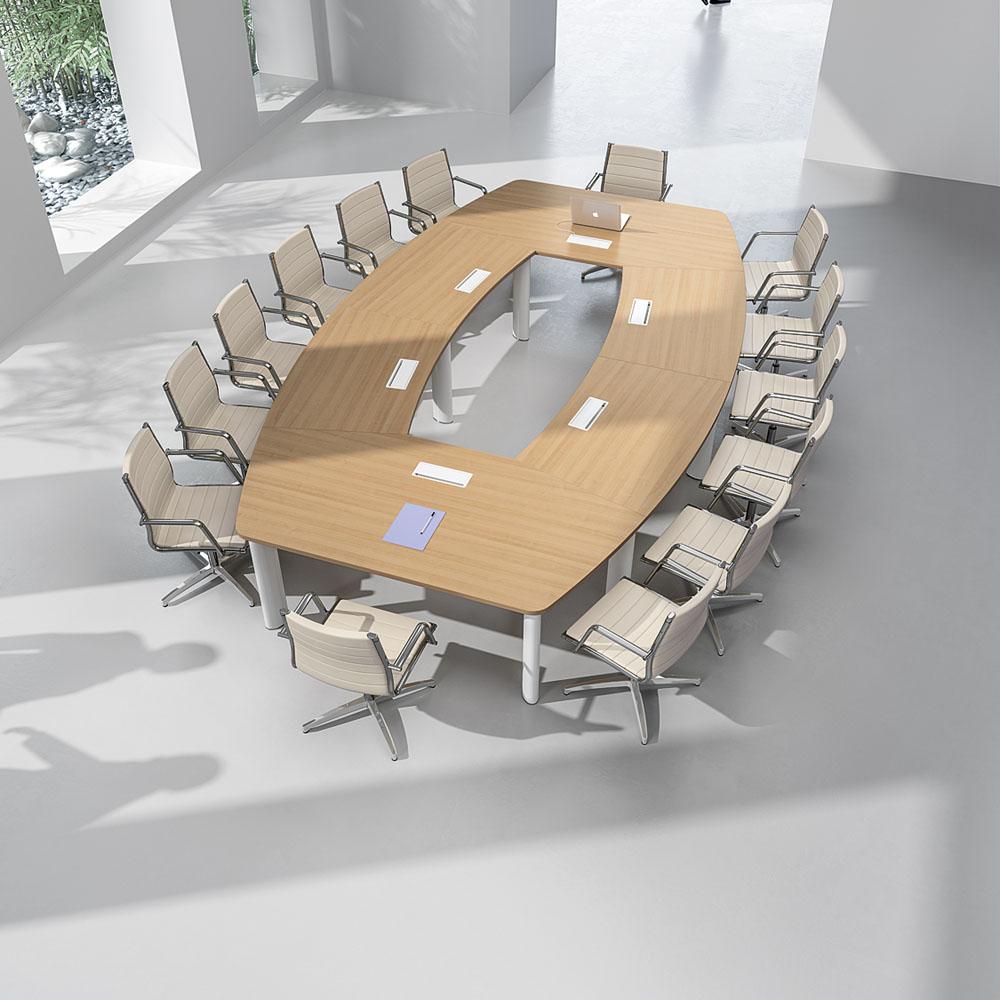 tables de conf rence table fr gate 16 places avec top. Black Bedroom Furniture Sets. Home Design Ideas