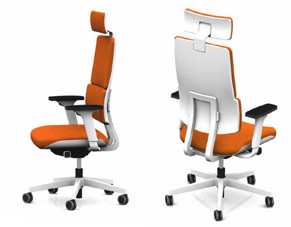 Sièges de bureau fauteuil wi max blanc haut dossier têtière