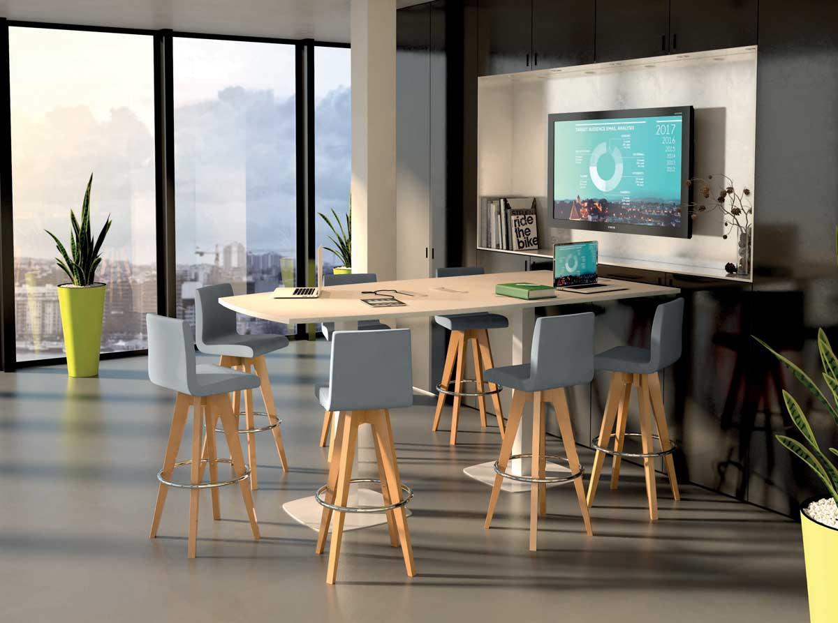 Mobilier et sièges hauts table haute new meeting mobilier de