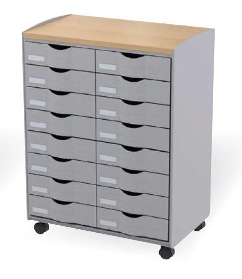 classement tiroirs bisley clen desserte mobile 16. Black Bedroom Furniture Sets. Home Design Ideas