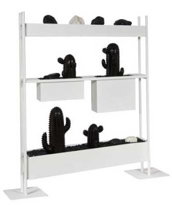 d coration design claustra avec cactus d coratifs et galets mobilier de bureau entr e. Black Bedroom Furniture Sets. Home Design Ideas