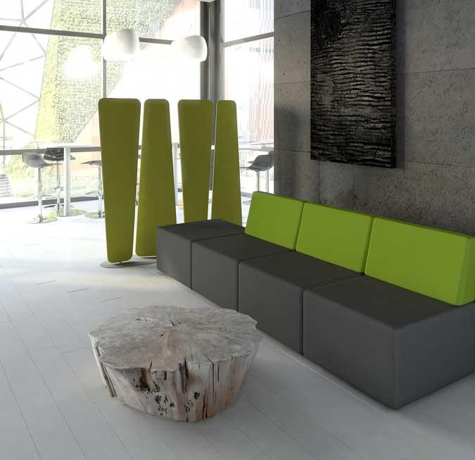 Espaces lounge banquette lounge 4 places mobilier de for Bureau 4 places