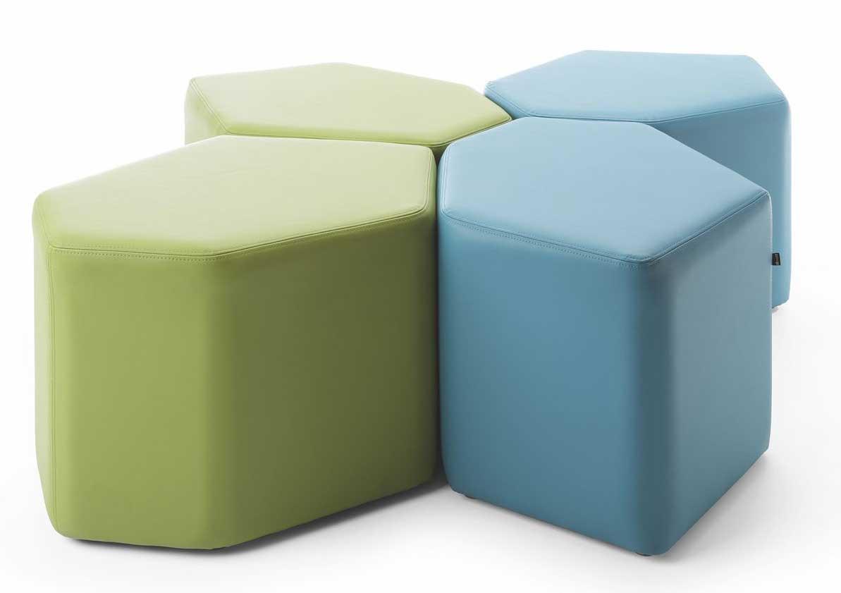 poufs et bancs ensemble de 4 poufs balthazar mobilier de bureau entr e principale. Black Bedroom Furniture Sets. Home Design Ideas