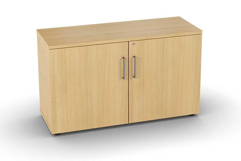 armoires et vestiaires armoire basse m lamin e 2 portes battantes mobilier de bureau. Black Bedroom Furniture Sets. Home Design Ideas