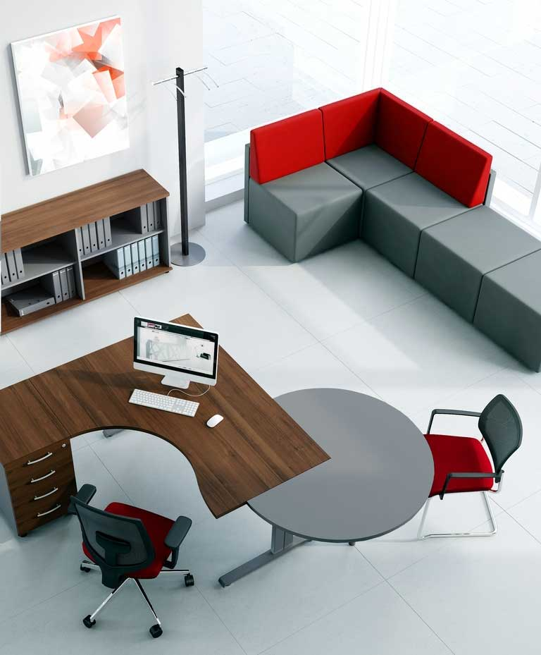 bureaux individuels ensemble manager avec convivialit ogienne mobilier de bureau entr e. Black Bedroom Furniture Sets. Home Design Ideas