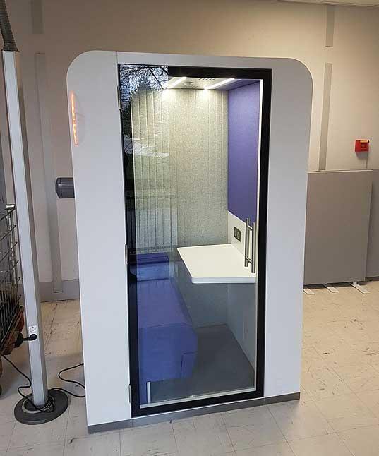 Espaces informels cabine de travail acoustique avec - Porte vitree acoustique ...
