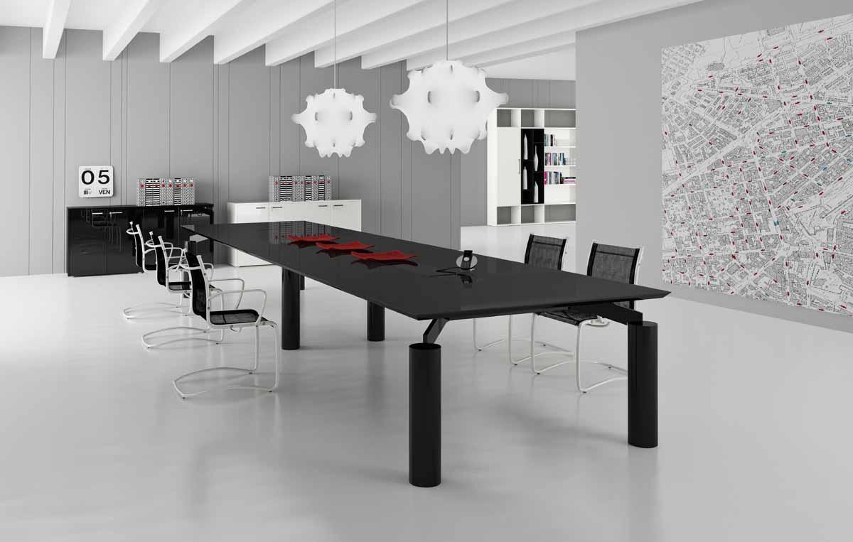 tables de conf rence table de conf rence spider verre 16 personnes mobilier de bureau. Black Bedroom Furniture Sets. Home Design Ideas