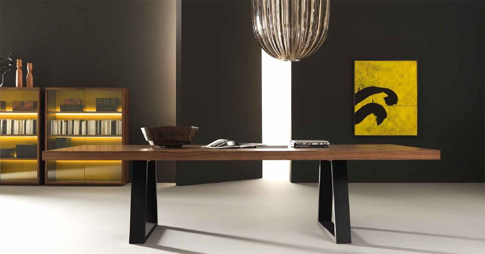 Bureau de Direction KYO Bois Pieds Design 300 x 120
