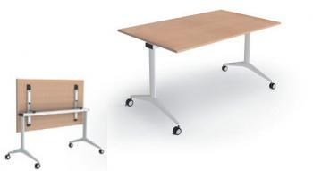 Table plateau rabattable sur roulettes TR3