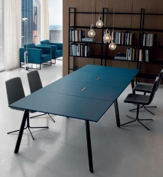 Table de réunion Soho cuir premium