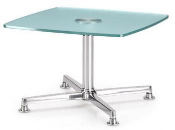 Table Basse Verre et Chrome Curos