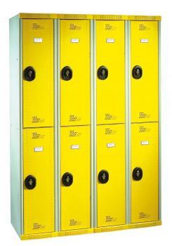 Vestiaires 4 cases AC jaune