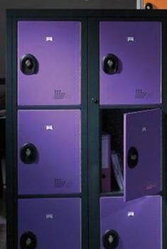 Vestiaires 6 portes AC bleu