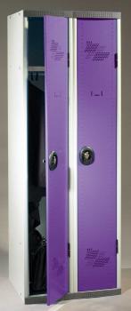 Vestiaire 2 cases portes violettes AC