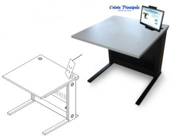 Table Informatique avec Support Moniteur
