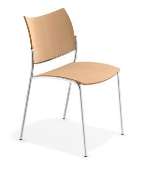 Chaise polyvalente 4 pieds Cobra bois
