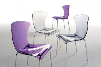 Chaises polycarbonate transparent Glossy