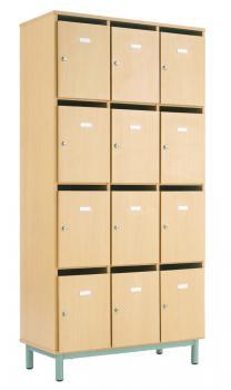 Armoire 12 Cases avec Portes Courrier