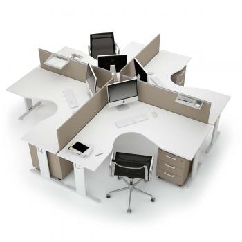 Call centers et open space mobilier de bureau entr e for Bureau marguerite 4 personnes