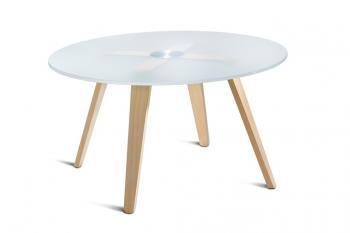 Table Basse Verre Austen 4 Pieds Bois