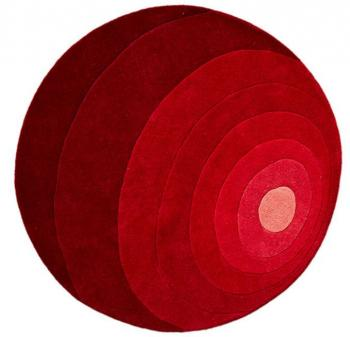 Tapis Luna Rug diamètre 120 Rouge