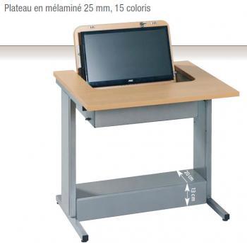 Table Informatique Fixe avec Ecran Rabattable