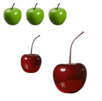 Ensemble de 3 Pommes et 2 Cerises