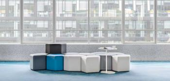 Ensemble de 10 Poufs Bas + 1 Haut + 1 Table Balthazar