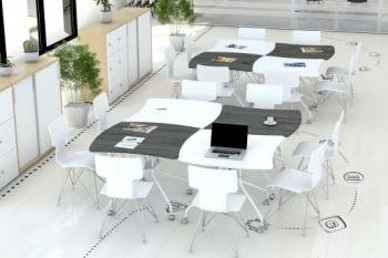 Groupe de 4 Tables Squircle