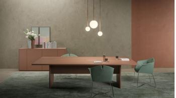 Table de réunion TRY laquée 280X140 électrifiée