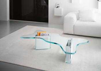 Table Basse Splash Base en Verre Blanc