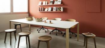 Table Bois Ermete Laminé Blanc True Design
