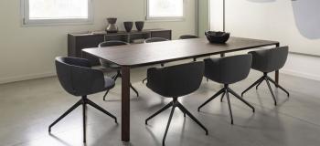 Table Ermete True Design Rectangle Chêne Foncé