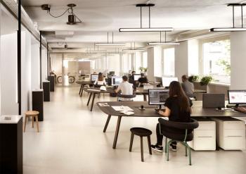 True Design Table de Travail Wing 500 Noyer Massif